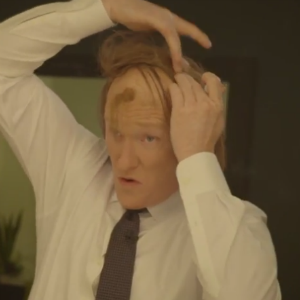 Watch Conan's <i>American Hustle</i>-Inspired Hair Ritual