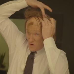 Watch Conan's <i>American Hustle</i>-Inspired Hair Ritual