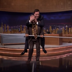Watch Bill Cosby Walk a Tightrope with Jimmy Fallon on His Back