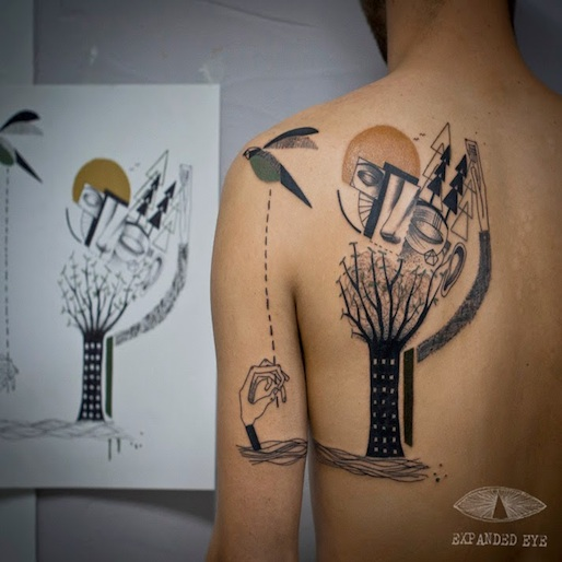 Your Life's Story, Told in Cubist Tattoos