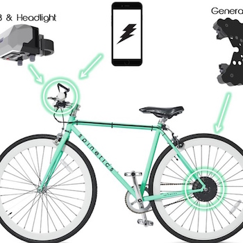 CydeKick is the Generator that Gets Power from Your Bike