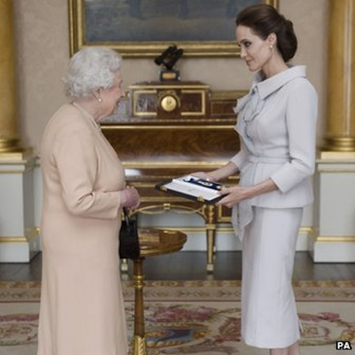 Angelina Jolie Made Honorary Dame By Queen of England