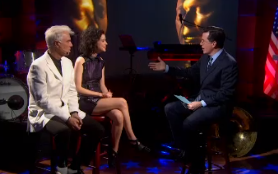 Watch David Byrne and St. Vincent on <i>The Colbert Report</i>
