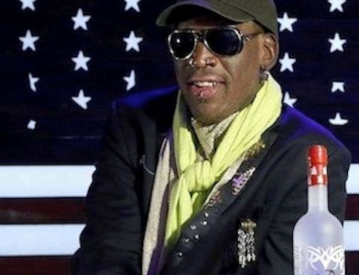 Dennis Rodman Launches Bad Ass Vodka, Brokers World Peace
