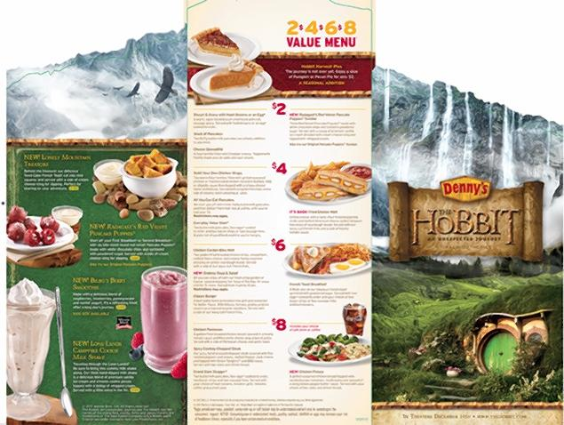 Denny's Creates New Middle Earth-Themed Menu