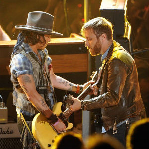 Watch The Black Keys Perform with Johnny Depp