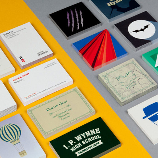 Business Cards of Characters' Alter Egos