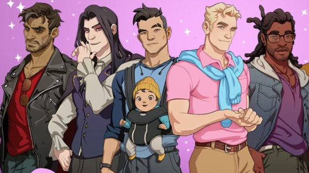 Gay male dating sim