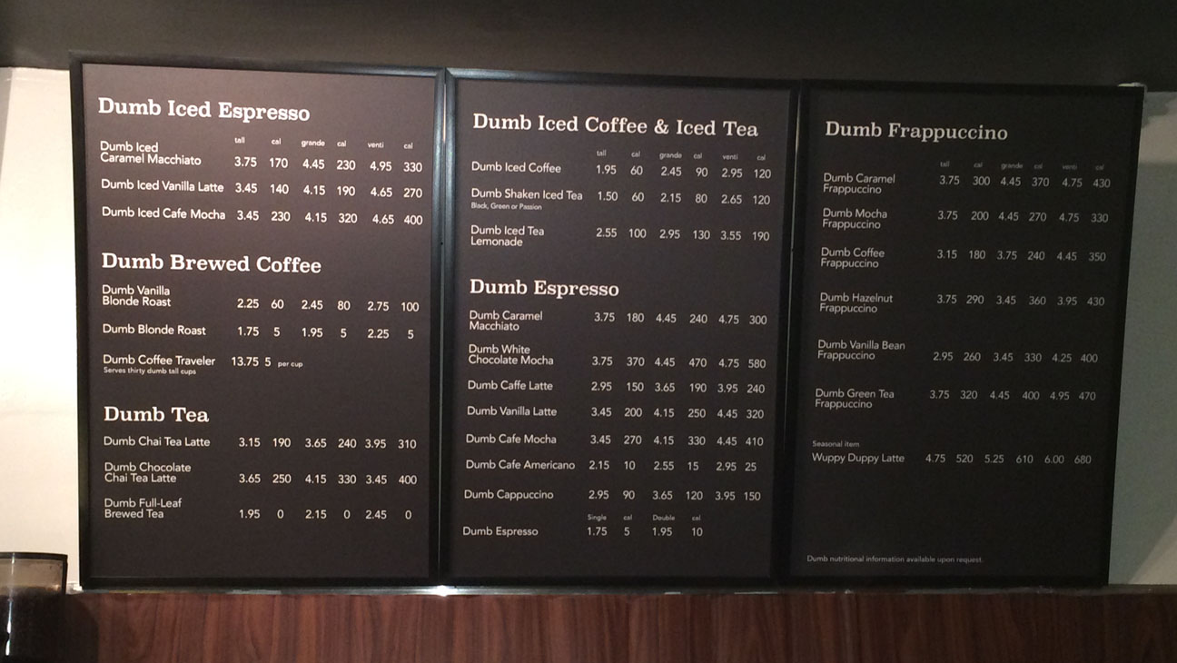 canadian comedian opens a coffee shop called dumb starbucks; could