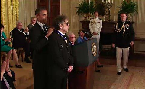 Bob Dylan Awarded the Presidential Medal of Freedom