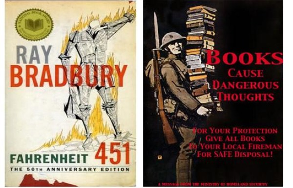 dystopian society in fahrenheit 451 Filled with stunning figurative language, fahrenheit 451 explores a society in which books are illegal.