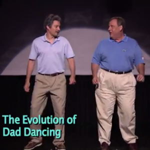 """Watch Chris Christie and Jimmy Fallon Run Down the """"Evolution of Dad Dancing"""""""