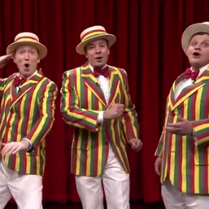 """Jimmy Fallon Covers R. Kelly's """"Ignition (Remix)"""" with a Barbershop Quartet"""