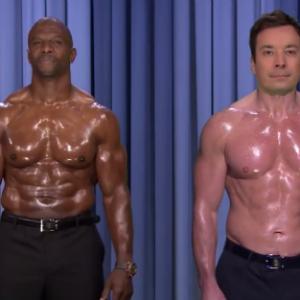 Watch Terry Crews and Jimmy Fallon's Inspiring Nipple Duet