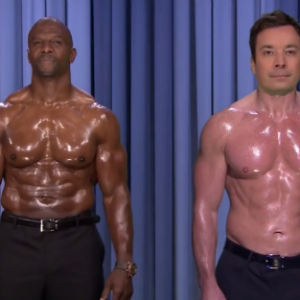 Watch Terry Crews and Jimmy Fallon's Inspiring Nipple Duet