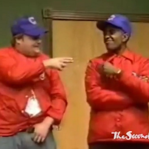 Here's Chris Farley and Tim Meadows In a 1989 Second City Performance