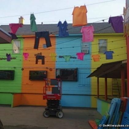 Pub Creates Fake Brazilian Slum For World Cup