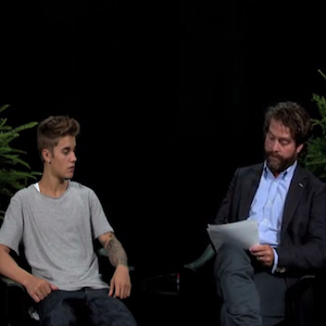 Zach Galifianakis Berates Justin Bieber for <i>Between Two Ferns</i>