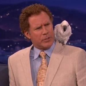 Watch Will Ferrell Dismiss Conan O'Brien's Questions About the Bird on His Shoulder