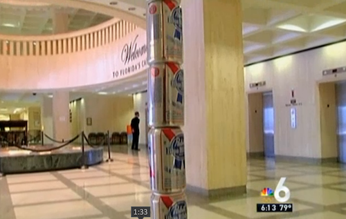 Pabst Blue Ribbon Festivus Pole Erected In Florida State Capitol