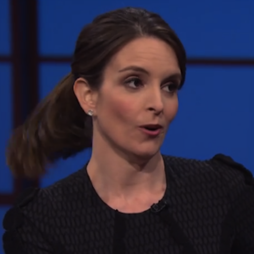 Tina Fey Draws Amusing Self-Portrait for Charity