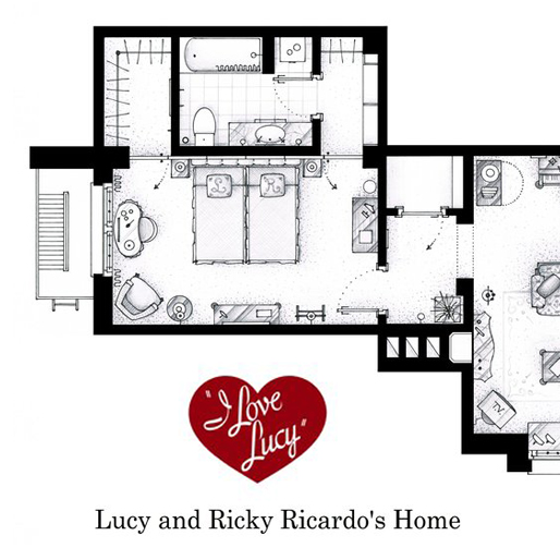Recognize These? Detailed Floor Plans From Your Favorite TV Shows and Movies
