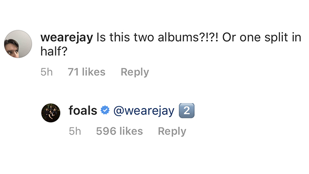 Foals Announce Two New Albums Coming in 2019 :: Music
