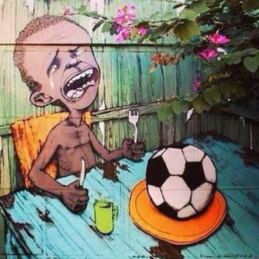 Anti-FIFA, Anti-World Cup Graffiti is Appearing in Brazil