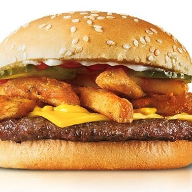 Eating Badly: Return of the French Fry Burger (from Checkers)