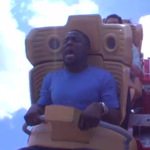 Watch Kevin Hart Freak Out on a Roller Coaster with Jimmy Fallon