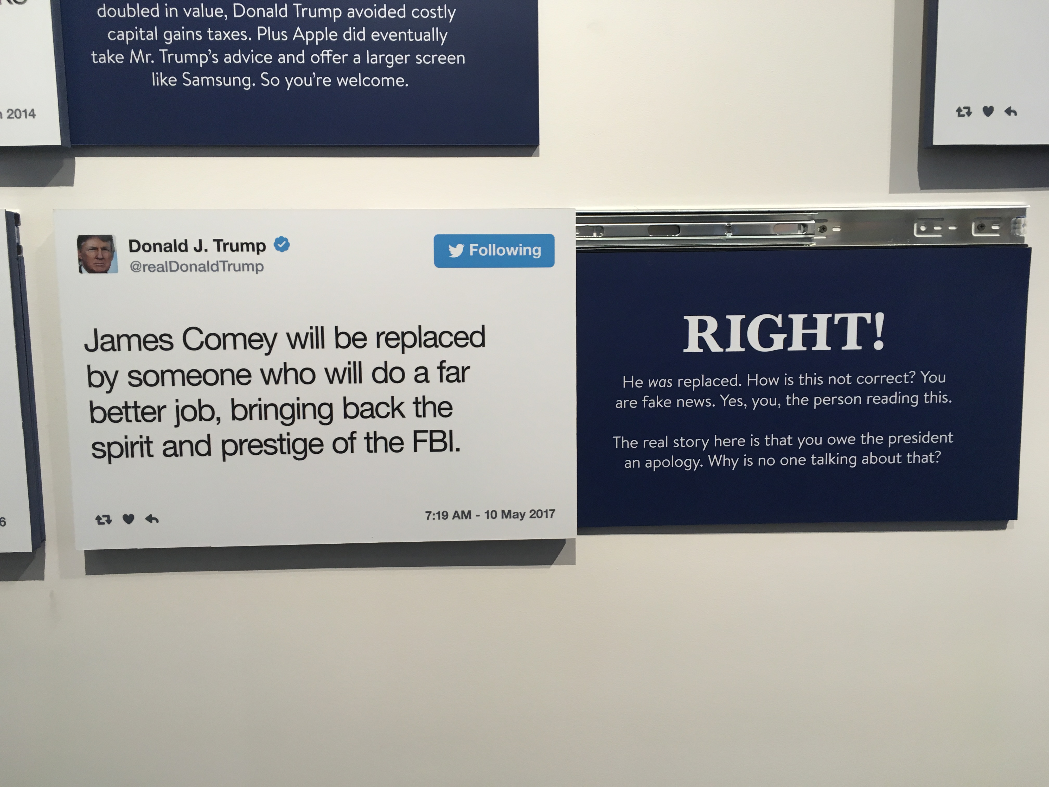 The Daily Show Made a Museum of Trump Tweets, For Some