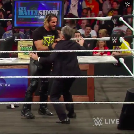 Watch Jon Stewart Kick a Man on Last Night's WWE Raw