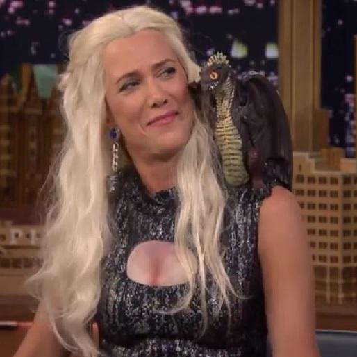 Watch Kristen Wiig as Khaleesi on <em>The Tonight Show</em>
