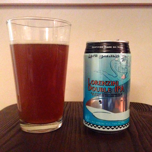 Maui Brewing Lorenzini Double IPA Review