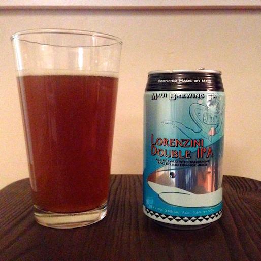 Maui Brewing Lorenzini Double IPA Review
