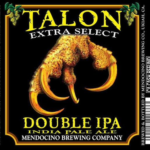 Mendocino Talon Extra Select Double IPA Review