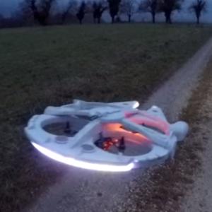 Man Turns a Quadcopter into RC Millennium Falcon