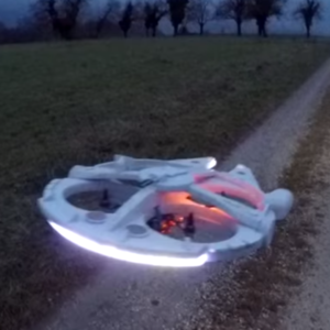 Man Turns a Quadcopter into RC Millennium Falcon