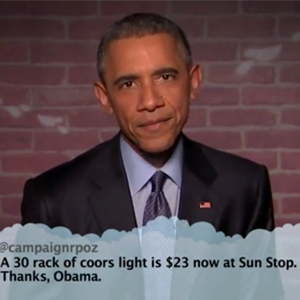 President Obama Reads Mean Tweets