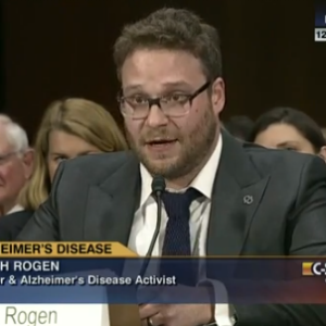 Seth Rogen Gives Hilarious and Heartfelt Senate Testimony About Alzheimer's