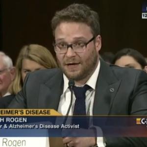 Seth Rogen Gives Hilarious and Heartfelt Senate Testimony About Alzheimer's