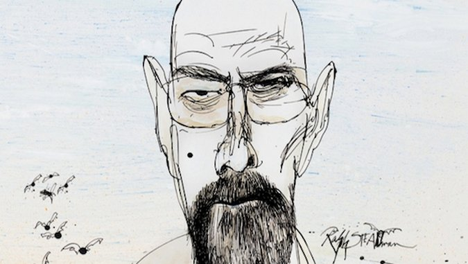 Walter White by Ralph Steadman
