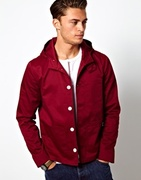Trendy oxblood color with a cool hood | ASOS Hooded Jacket | ASOS | $71.19