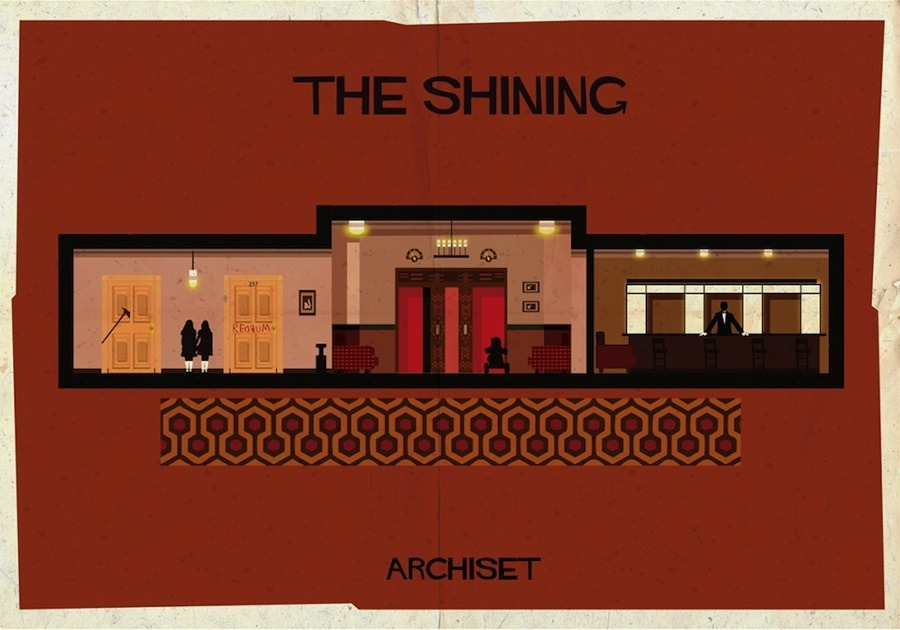 Archiset Posters Depict Famous Movie Interior Architecture