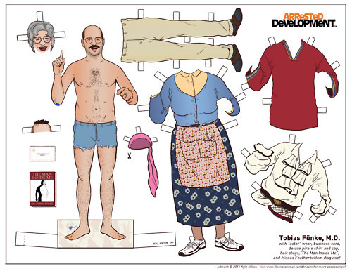 <em>Arrested Development</em> Paper Dolls