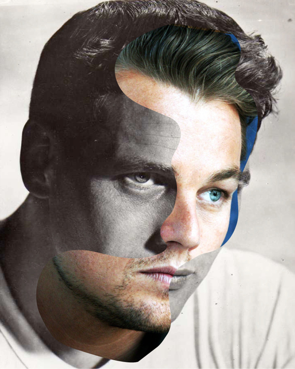 "Artist Creates Celebrity Face Mashups in ""Then and Now"" Portraits"