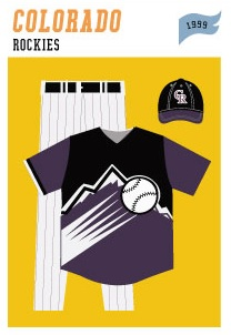 baseball-uniforms colorado-rockies-1999