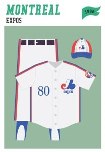 baseball-uniforms montreal-expos-1982