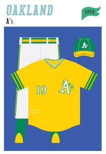 baseball-uniforms oakland-as-1972