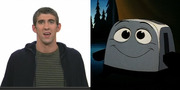 Michael Phelps as <i>The Brave Little Toaster</i>. Ok, we admit it. This one was all about the ears.